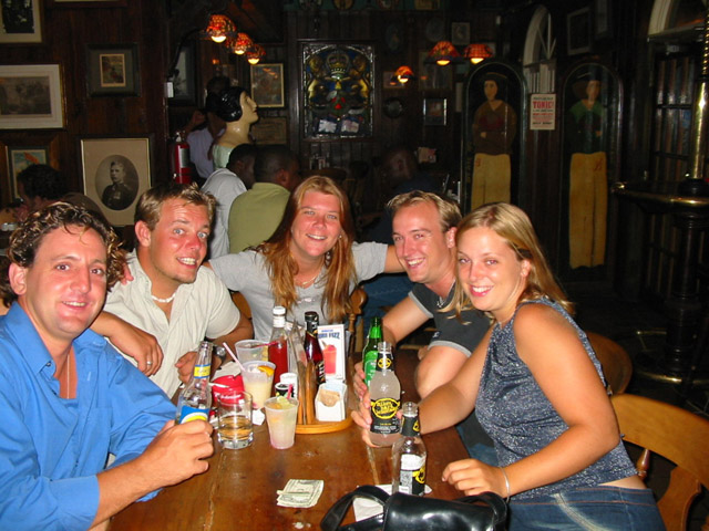 Ant, Ben, me, Karmen & Emma, this one is actually taken at Pussers, not the Bat Cave.