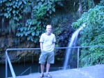 A blurry photo of me at the waterfalls