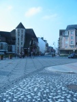 Cool cobblestone streets and buildings.