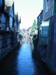 Cute little creek running through the town.