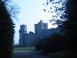 The front end of Warwick castle.