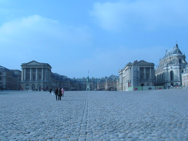 The courtyard at Versailles