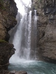 The upper falls of Johnston Canyon.
