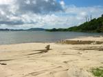 The new man-made beach at Brandywine bay.