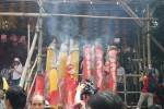 "Huge ""incense sticks"", it was Buddah's birthday after all."