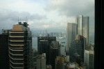 The view from my hotel room, looking out over the harbour with Kowloon on the opposite side.