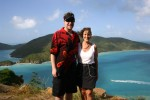 Ian & Mom, with Guana Island in the background,