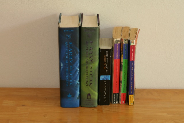 Harry Potter Books: $10 [SOLD] The first 6 books, 2 in hard cover (as illustrated above)