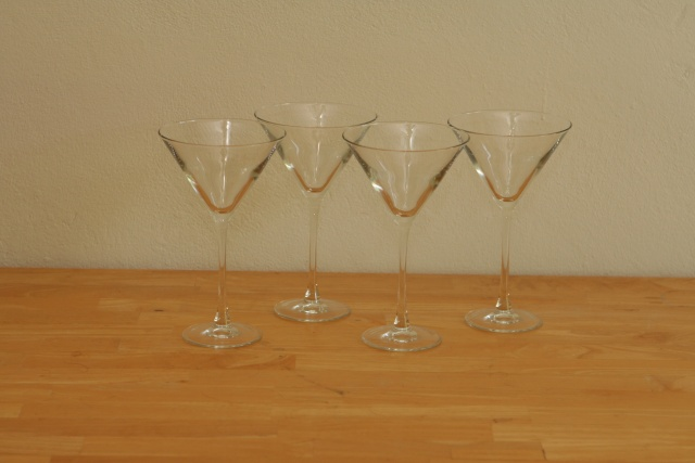 Martini Glasses (4): $10 [SOLD]