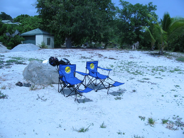 Our carib beach chairs we won from the bat cave.  They're Uber!